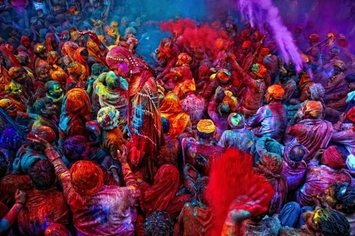Holi Fest der Farben in Indien