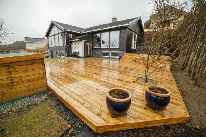 holzterrassen pflegen terrassengestaltung garten