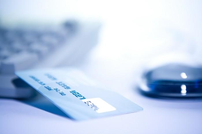 online kredit bankkarte computer