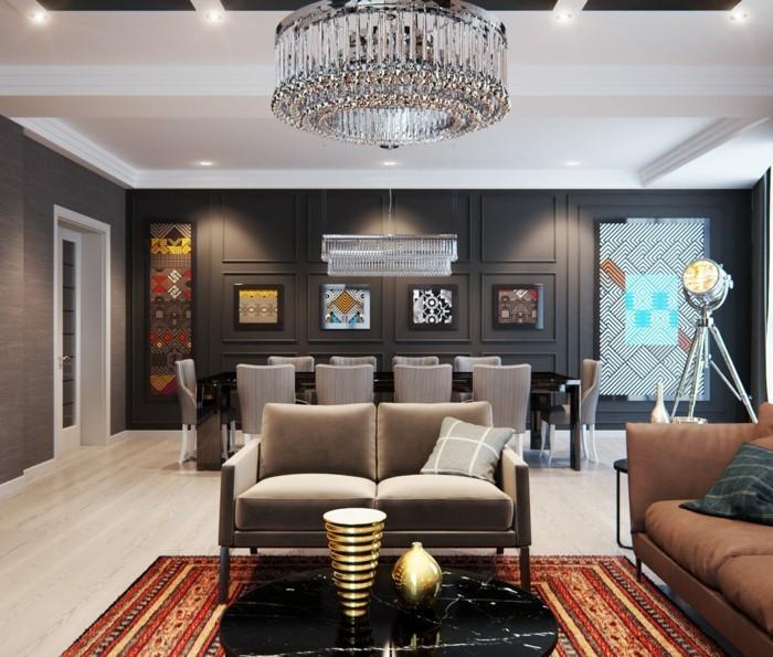 lichtplanung im wohnzimmer modernes interieur und ausgefallene beleuchtungskörper