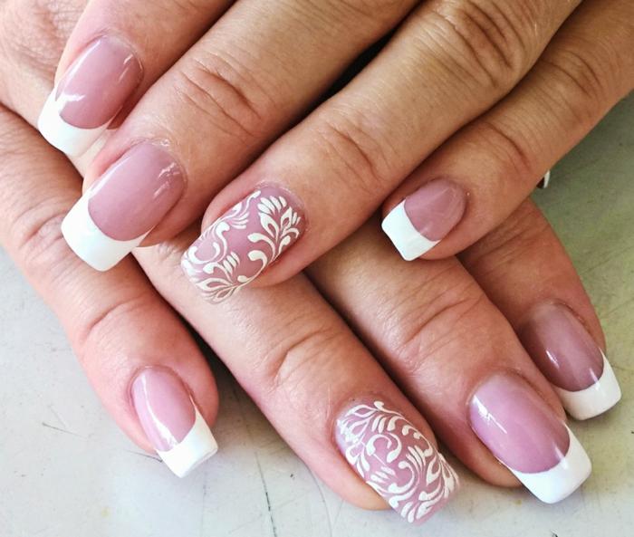 maniküre für hochzeit fingernägel weisser nagellack
