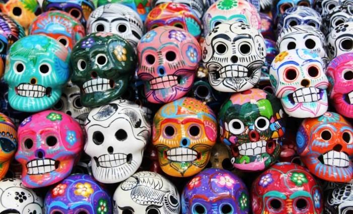 masken für den fest des todes mexico