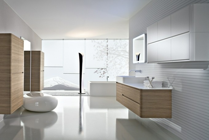 modernes bad einrichten minimalistischer stil