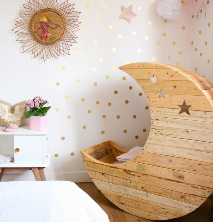 mondschaukel aus europaletten mit sternen babybett selber bauen
