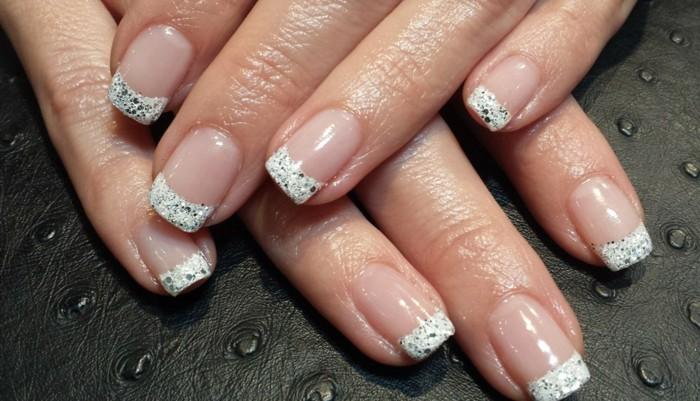 nageldesign glizter hochzeitsnägel ideen nagellack