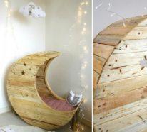 Palettenmöbel selber bauen: DIY Mondschaukel für Babys mit Anleitung