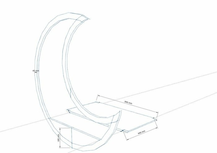 palettenmöbel selber bauen mondschaukel skizze