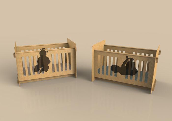 pappmoebel kartonmöbel bett aus karton kinderzimmer gestalten ideen diy ideen büro designer möbel babyzimmer