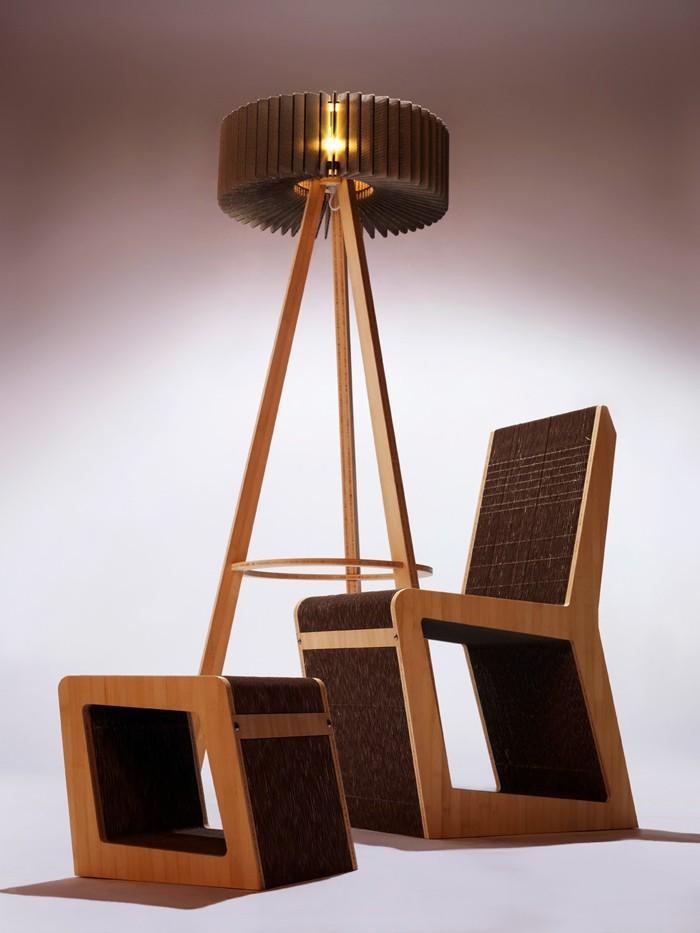 pappmoebel kartonmöbel bett aus karton kinderzimmer gestalten ideen diy ideen büro designer möbel