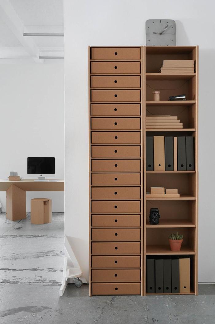 pappmoebel kartonmöbel bett aus karton kinderzimmer gestalten ideen diy ideen büro