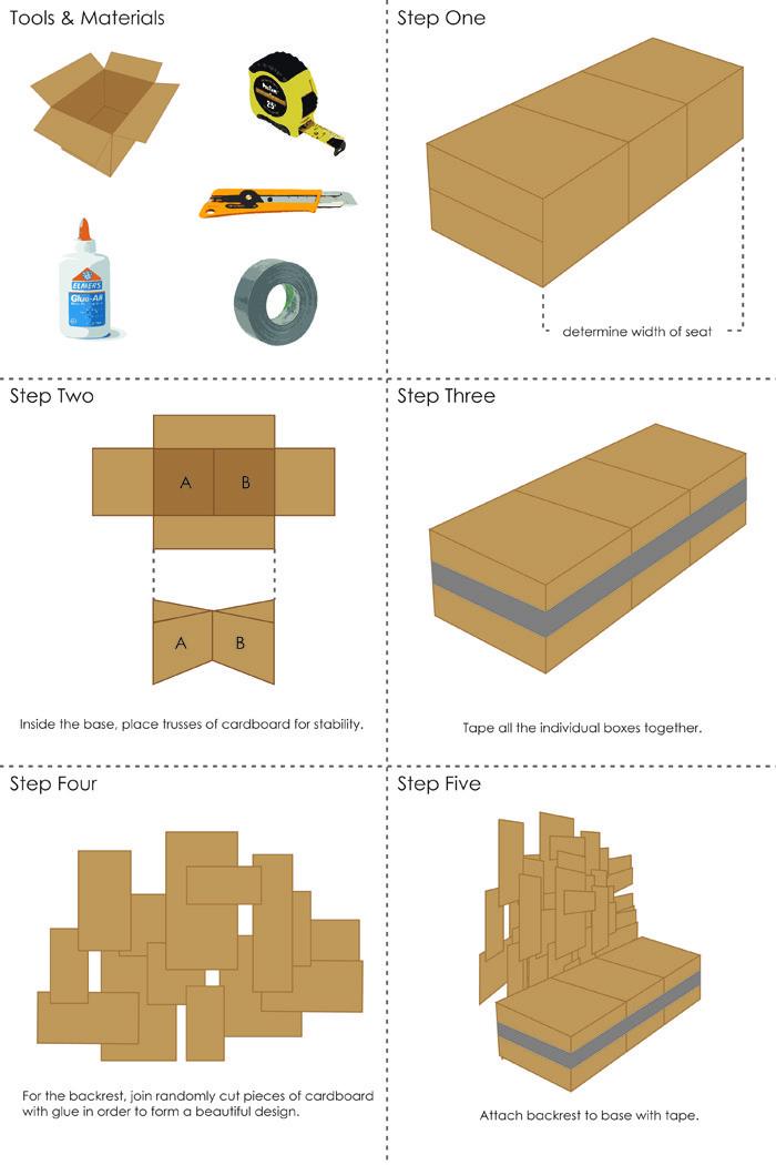 pappmoebel kartonmöbel bett aus karton kinderzimmer gestalten ideen diy ideen selber machen