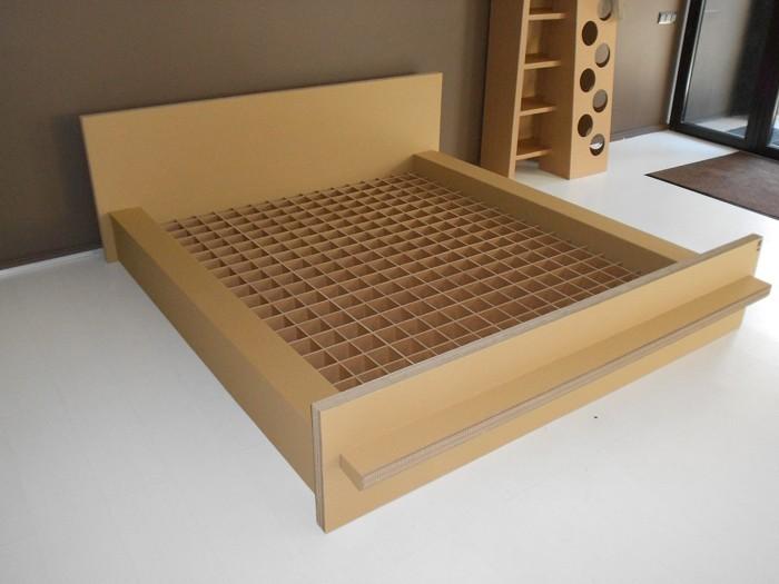 pappmoebel kartonmöbel bett aus karton