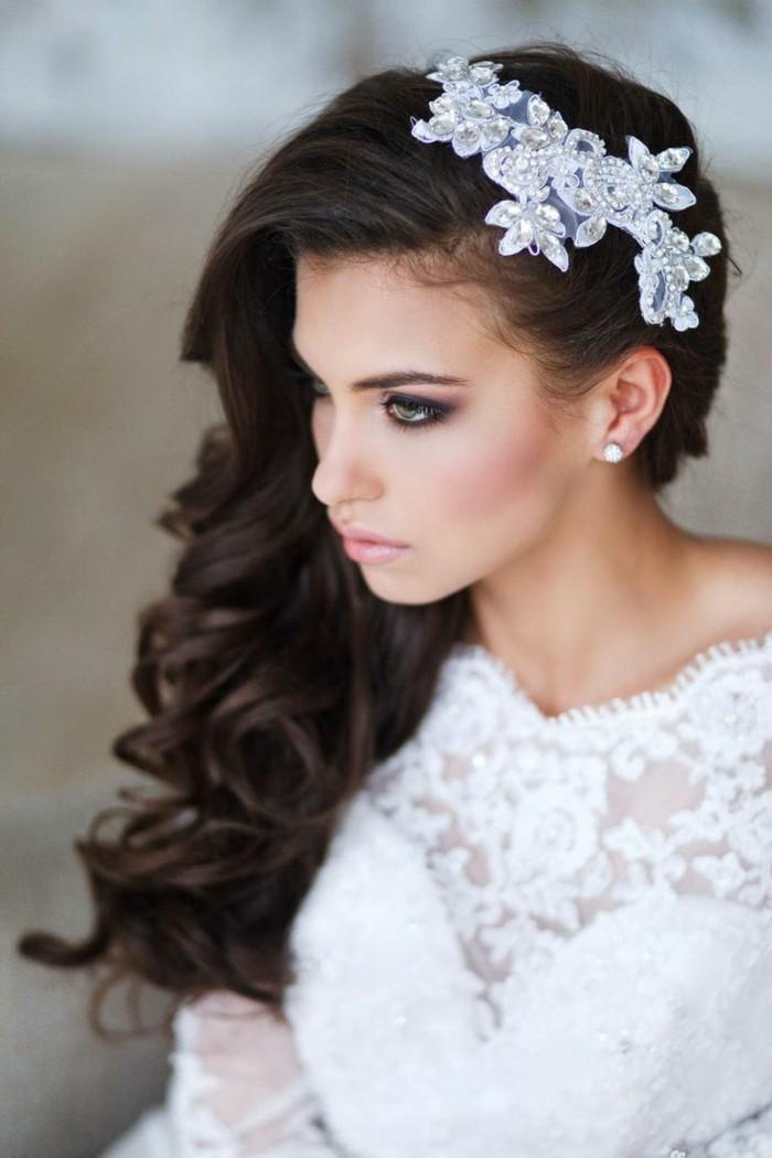schöne frisuren brautfrisur für langes haar