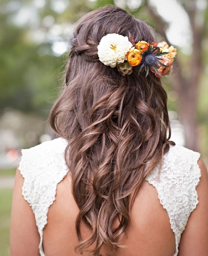 schöne frisuren charmante hochsteckfrisur für hochzeit