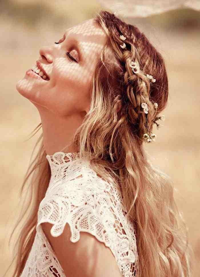 schöne frisuren charmante ideen für langes haar
