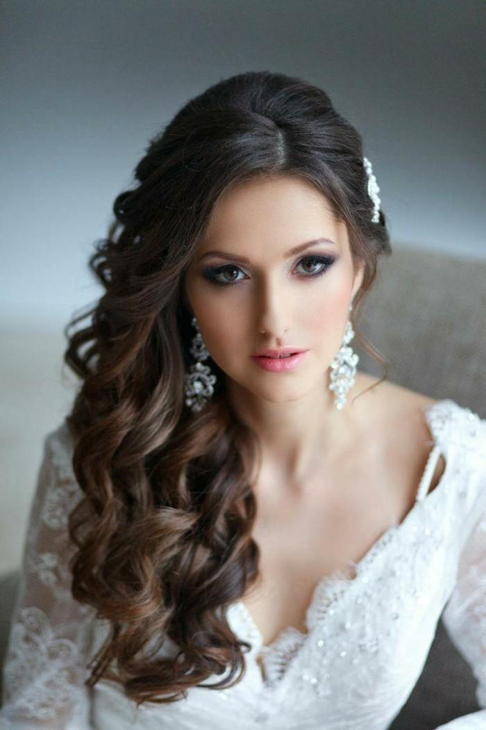 schöne frisuren langes haar mit locken für die hochzeit