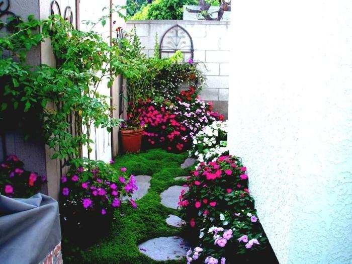 schöne gärten blumen schön arrangieren