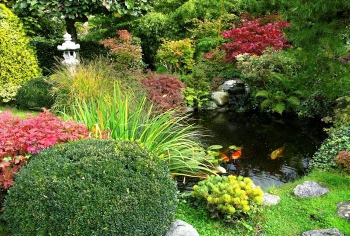 schöne gärten garten mit gartenteich