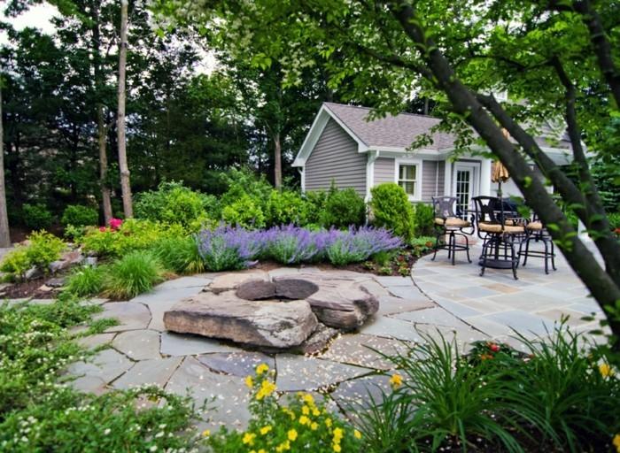 schöne gärten garten mit steinen gestalten