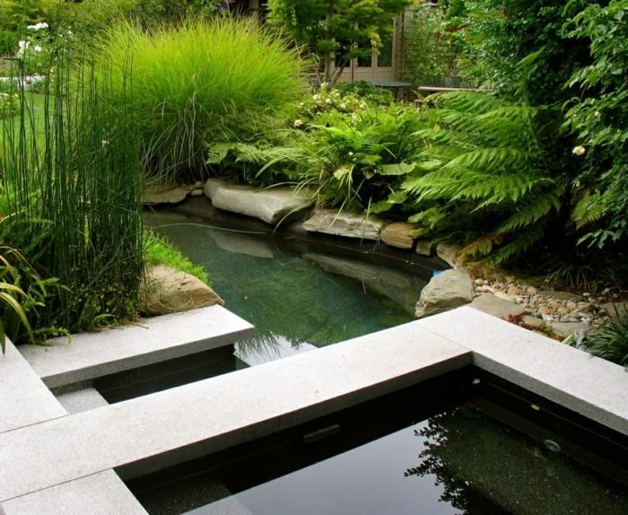 schöne gärten gartendesign mit gartenteich
