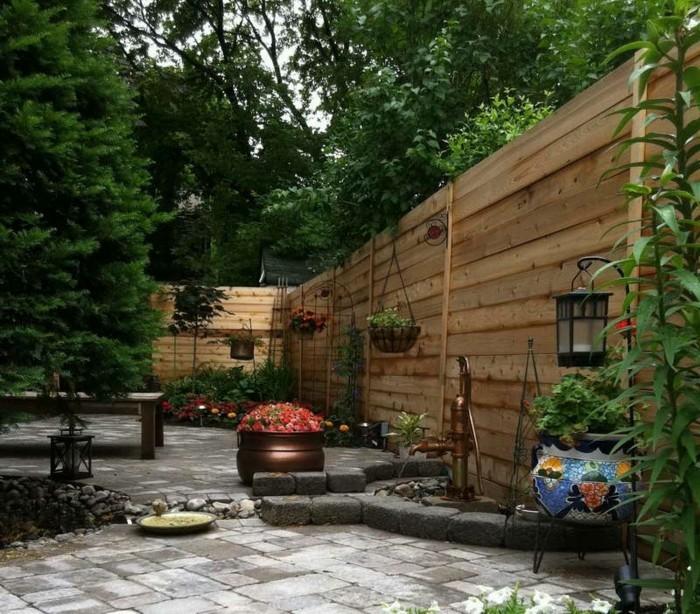 schöne gärten hinterhof gemütlich gestalten