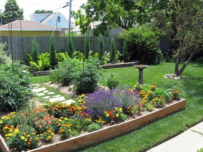 schöne gärten hochbeete gestalten und den garten gut organisieren