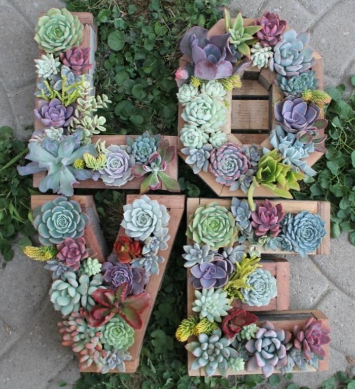 schöne gärten kreative gartendeko mit sukkulenten