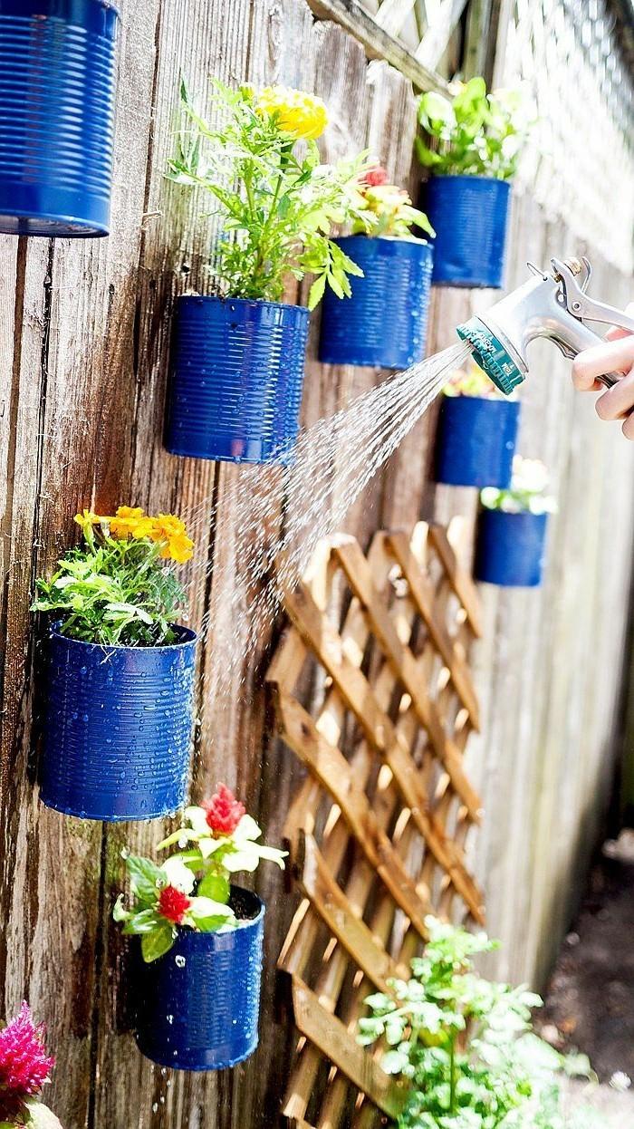 schöne gärten kreative gartenideen mit blumetöpfen