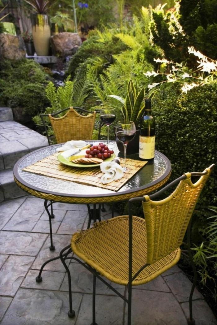 schöne gärten sitzecke im außenbereich gestalten