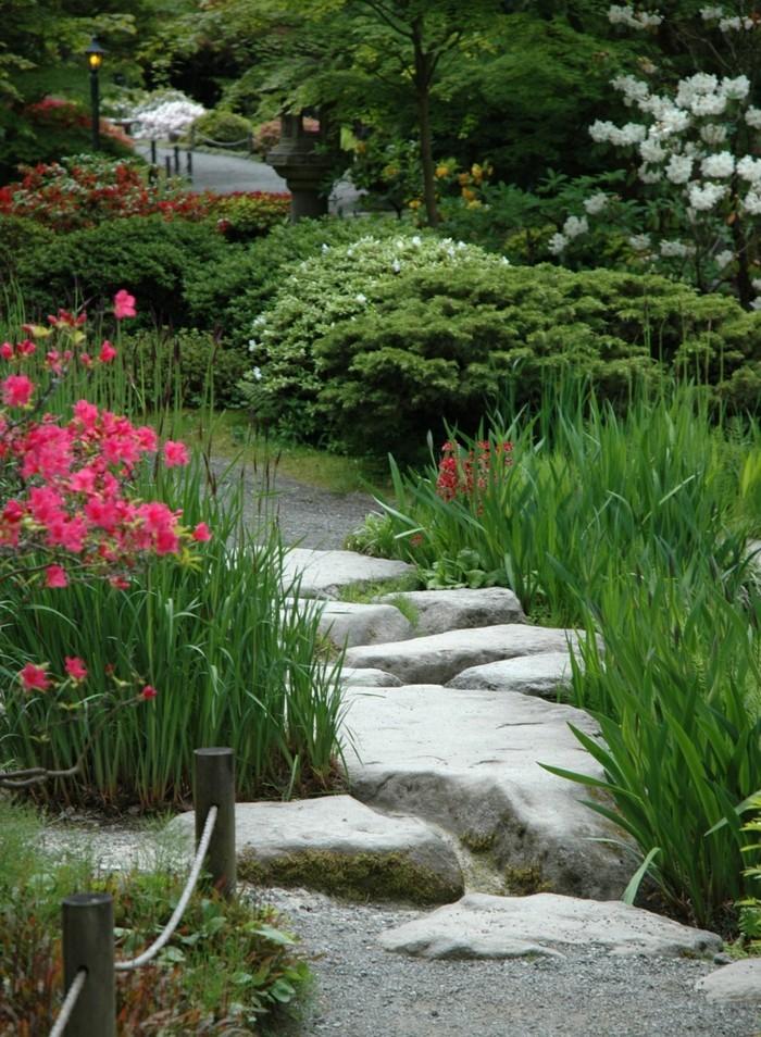 schöne gärten steingarten gestalten ideen