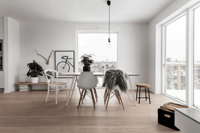 skandinavisches design im esszimmer minimalistisch und geräumig