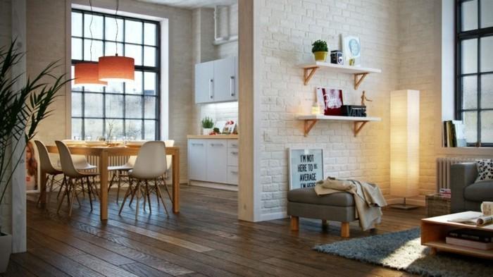 skandinavisches design im esszimmer offener wohnplan