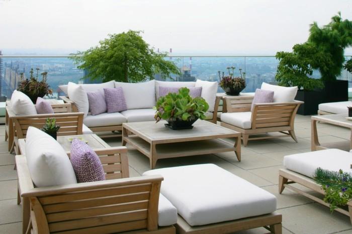 terrassengestaltung dachterrassen gestalten ideen passende möbel und pflanzen