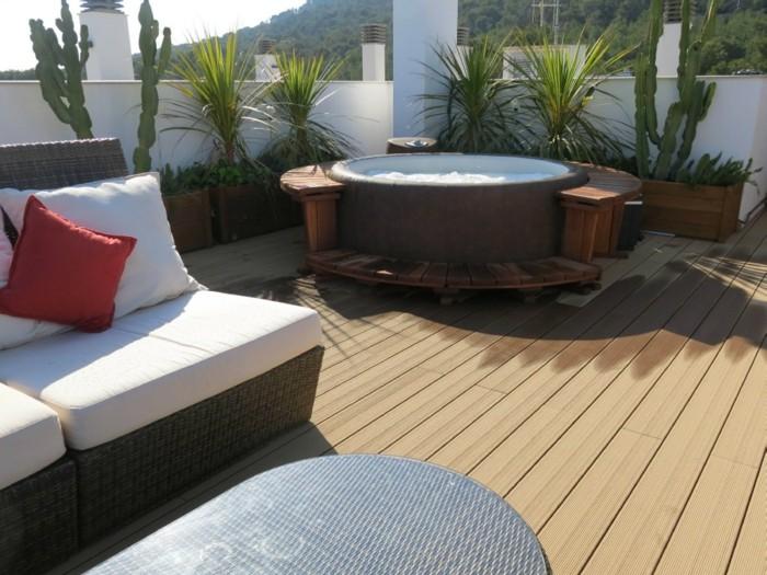 terrassengestaltung dachterrassen gestalten mit sauna