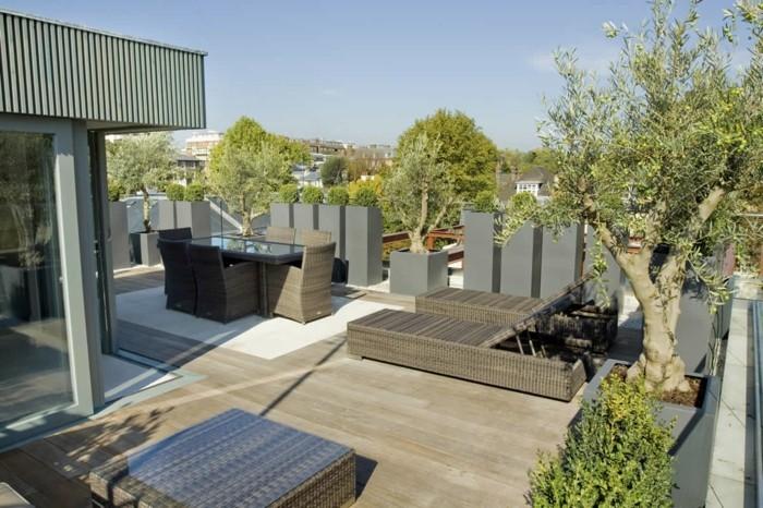 terrassengestaltung einrichtungsideen für die terrasse auf dem dach