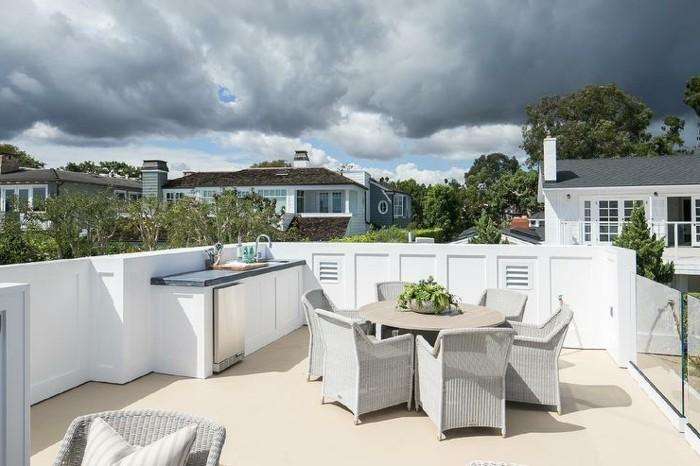 terrassengestaltung ideen für dachterrassen mit passenden möbelstücken