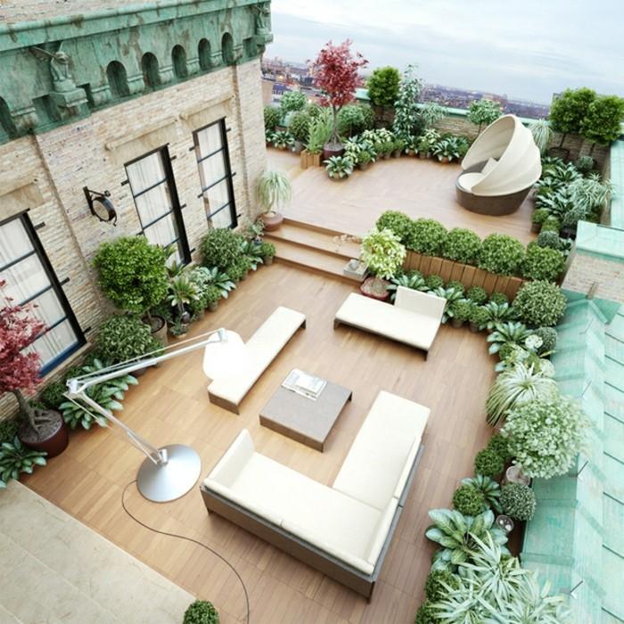 terrassengestaltung moderne einrichtung und schöne dekoration
