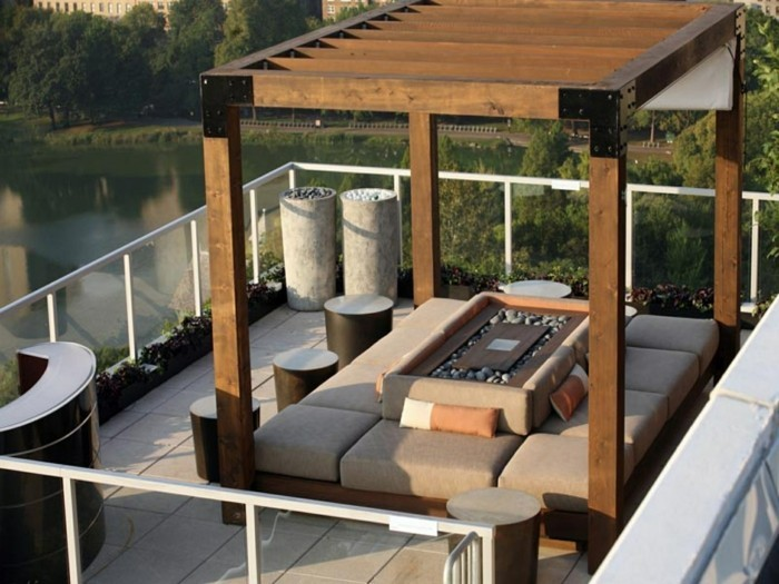 terrassengestaltung moderne terrasse mit stilvoller sitzecke