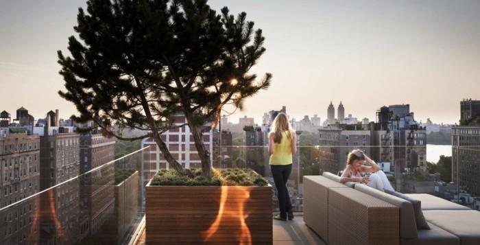 terrassengestaltung terrasse auf dem flachdach gestalten