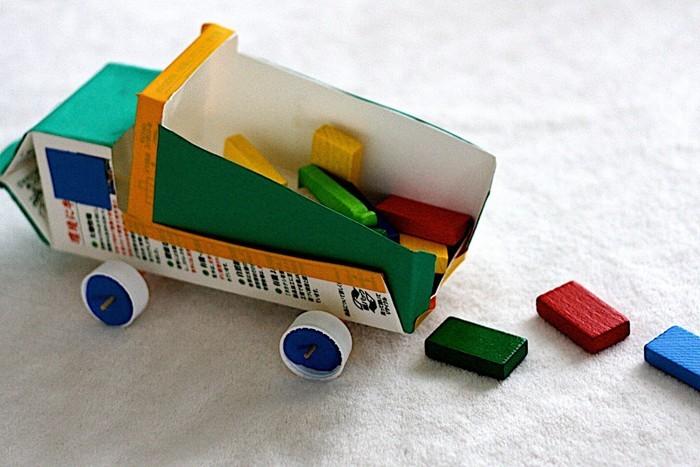 upcycling ideen recycling basteln tetrapack ladung