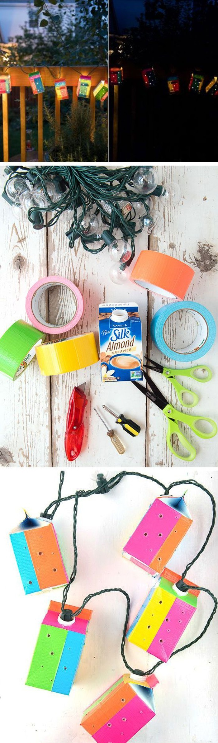 upcycling ideen recycling basteln tetrapack laternen diy