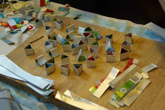 upcycling ideen recycling basteln tetrapack wikking schiff making of