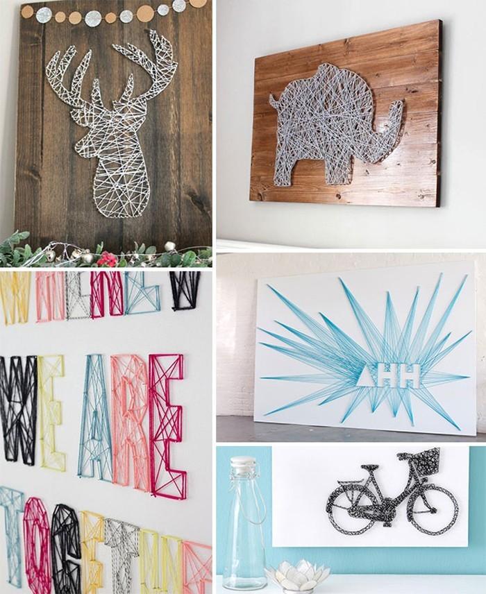 DIY moebel upcycling ideen diy inspiration aus alt macht schreibtisch selber machen basteln mit garn