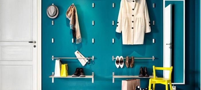 DIY moebel upcycling ideen diy inspiration aus alt macht schreibtisch selber machen diy garderobe blaue wand