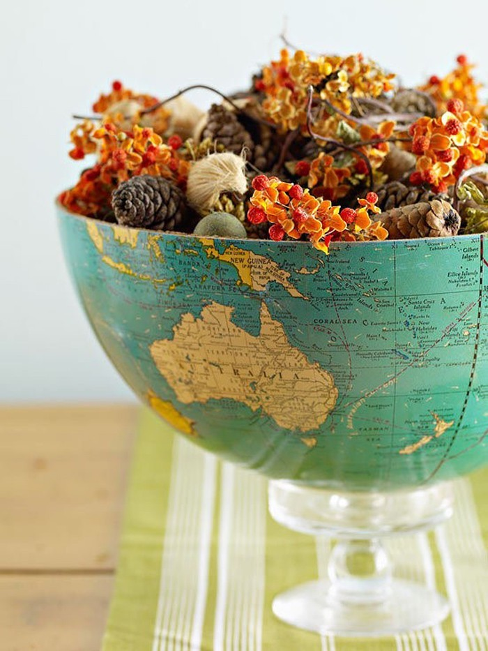DIY moebel upcycling ideen diy inspiration aus alt macht schreibtisch selber machen globus