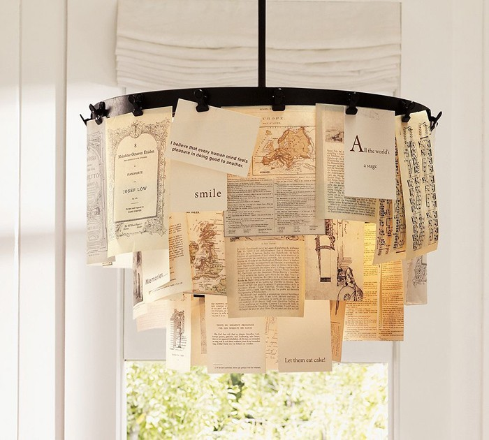 DIY moebel upcycling ideen diy inspiration aus alt macht schreibtisch selber machen lampenschirm aus büchersewiten
