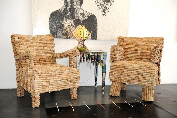 DIY moebel upcycling ideen diy inspiration aus alt macht schreibtisch selber machen möbel aus kork