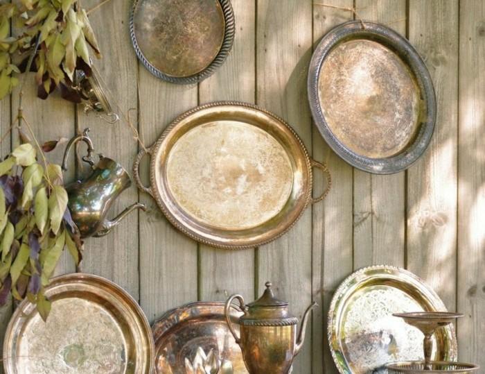 ausgefallene gartendeko selber machen alte gegenstände wiederverwenden