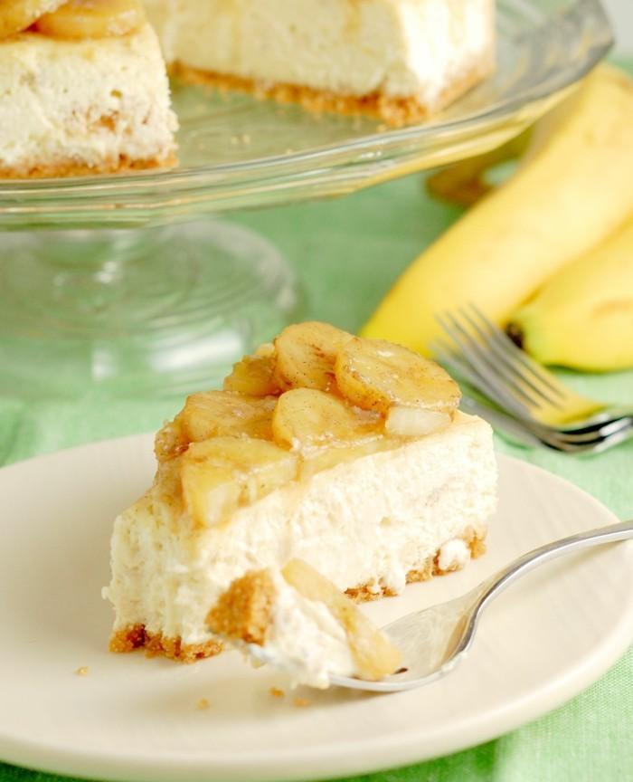 bananen käsekuchen für den sommer backen