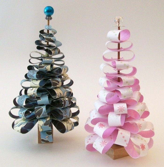 basteln mit papier ausgefallene dekoration für weihnachten